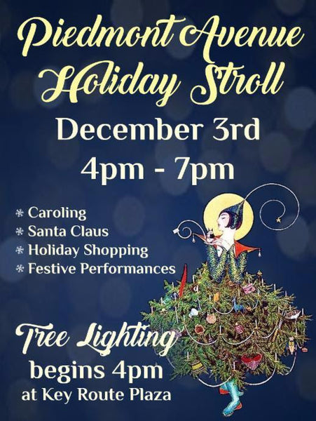 piedmont ave. holiday stroll & tree lighting