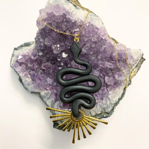 Original Medusa Necklace - Obsidian Black