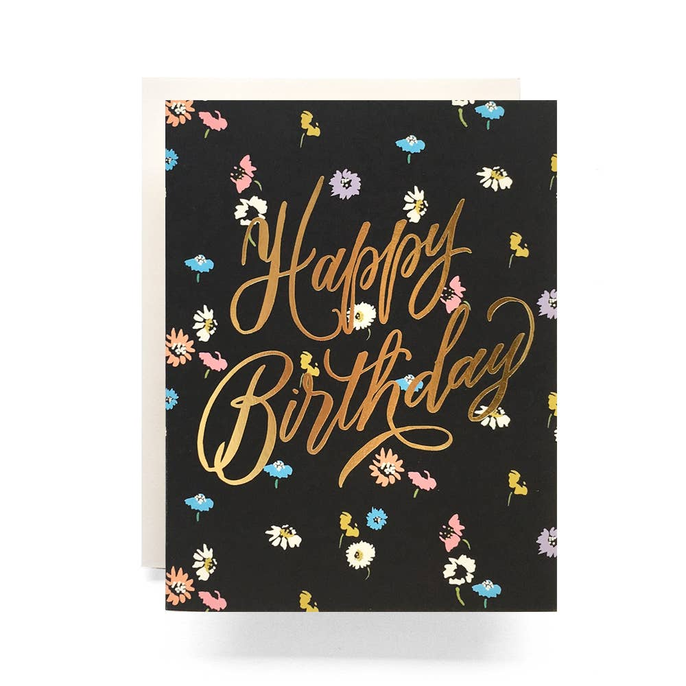 Antiquaria - Disty Floral Birthday Greeting Card