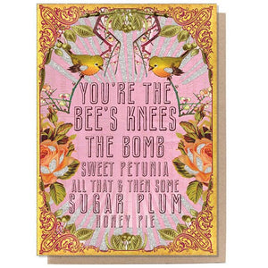 PAPAYA - Greeting Card - Bee's Knees