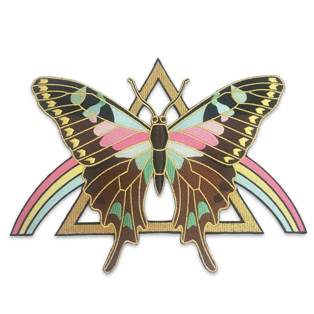 Wildflower + Co. - Mystical Butterfly Rainbow Back Patch