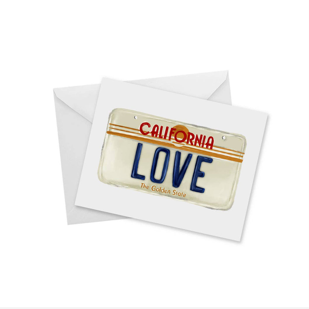 doodles.ink. - California Love - License Plate - Notecard