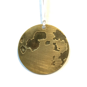 Full Moon Brass Ornament