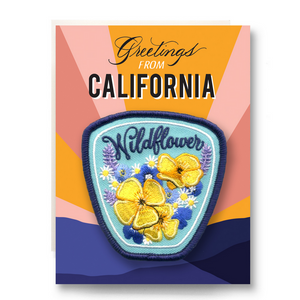 Patch Greeting Card - Wildflower Greetings