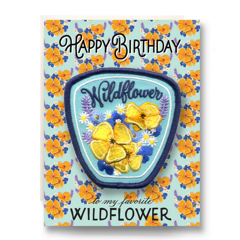Patch Greeting Card - Wildflower Birthday