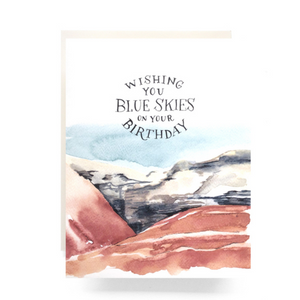 Blue Skies Birthday Greeting Card