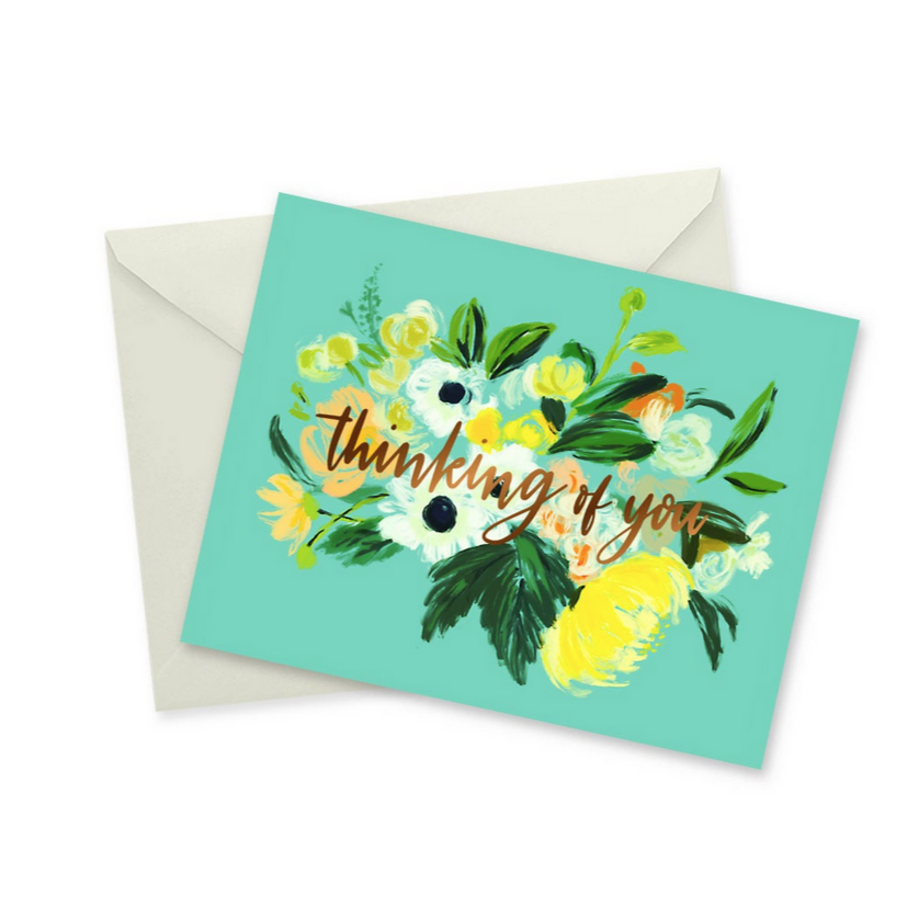 Thinking of You Gold Foil Notecard