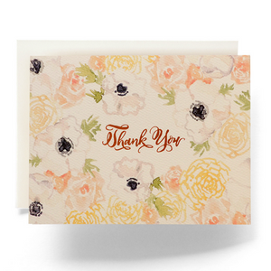 Natalia Floral Thank You Greeting Card