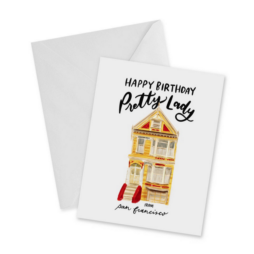 Painted Ladies Happy Birthday Card