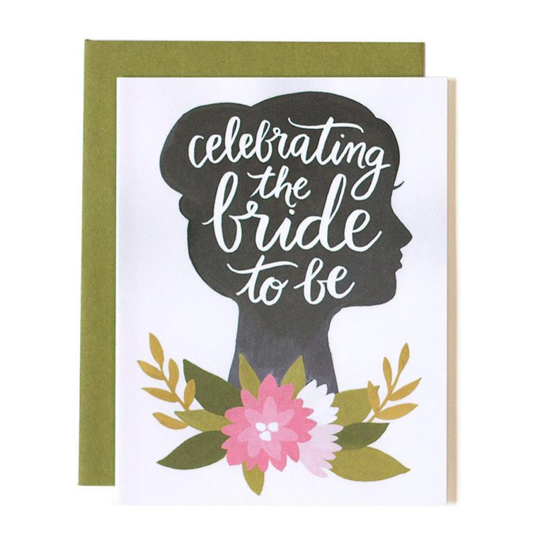 Celebrating Bride to Be Silhouette Card