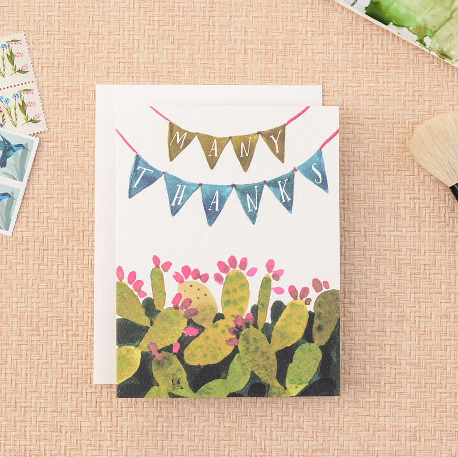 Many Thanks Cactus Card Set