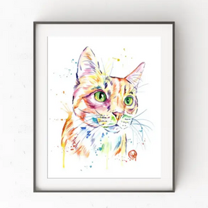 "Orange Tabby Art Print 11"" x 14"""