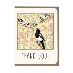 Thank You Magpie Card
