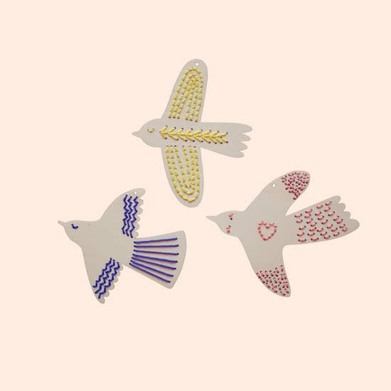 Wooden Birds Embroidery Kit
