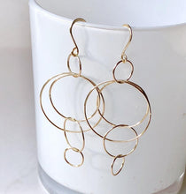Gold Statement Circle Earrings