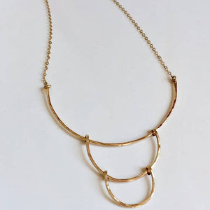 Triple Crescent Necklace