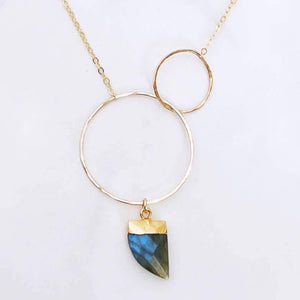 Labradorite Double Circle Necklace