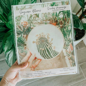 Saguaro Blooms Embroidery Kit - Advanced