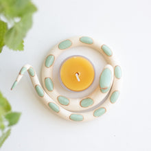 Ceramic Snake Tealight Holder ~ Sofie