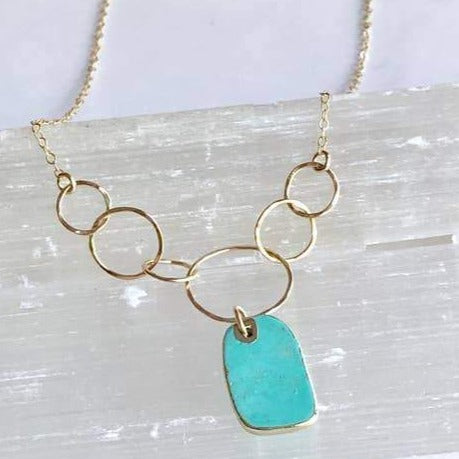 Turquoise Circles Necklace