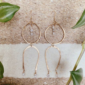 You + I Earrings ~ 14k Gold Finish