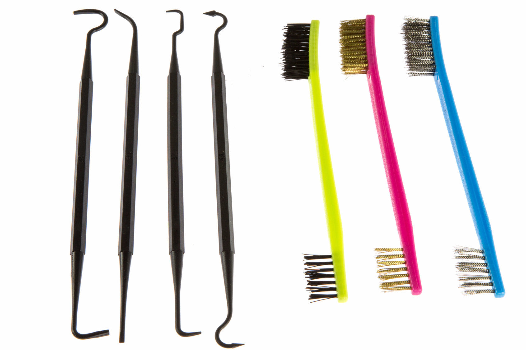 7 pc Gun Cleaning kit - picks and brushes