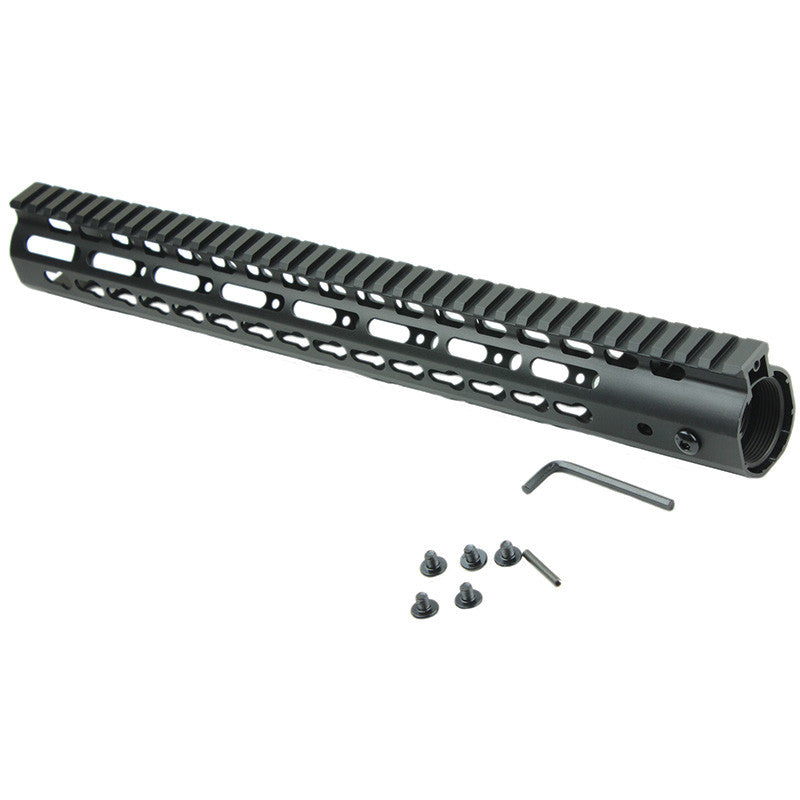 Ultralight Free Float Handguard Slim Keymod Rail, Steel Barrel Nut