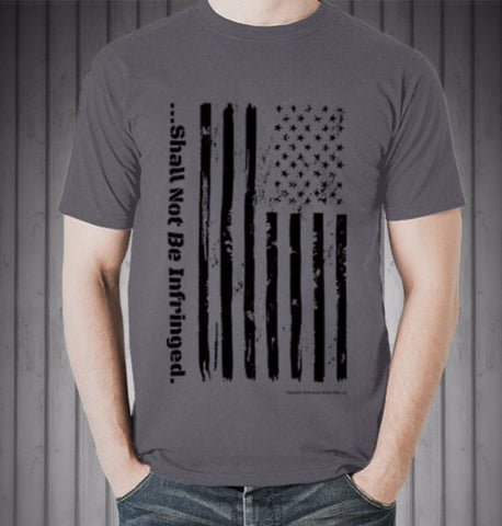Distressed Flag Shirt Gray - Shall Not Be Infringed