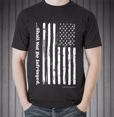 Distressed Flag Shirt - Shall Not Be Infringed