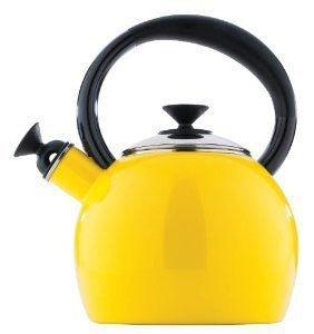 PORCELAIN ENAMEL TEA KETTLE
