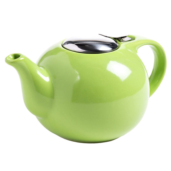 Ceramic Teapot with Stainless Steel Lid
