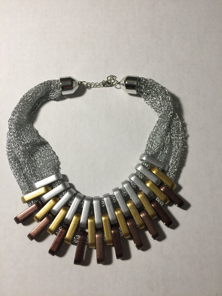 Tri-Color Links Necklace - Umami Tea