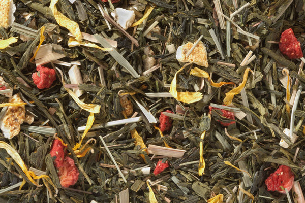 Strawberry Orange Tease Organic Green Tea - Umami Tea