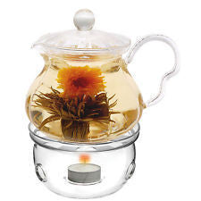 GLASS TEAPOT W/ WARMER - Umami Tea