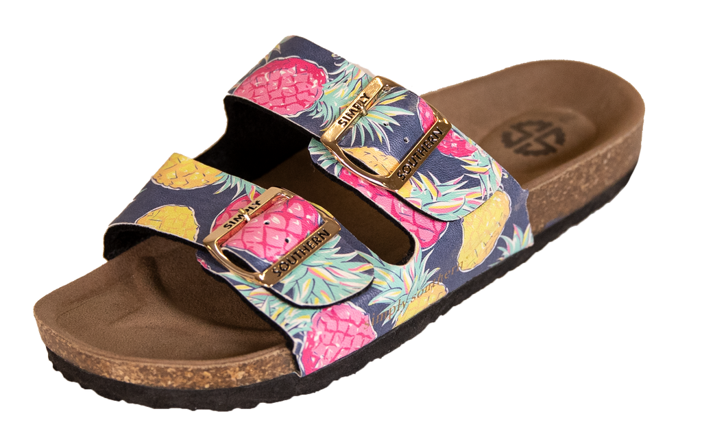 Pineapple Sandals - S20 - Simply Southern