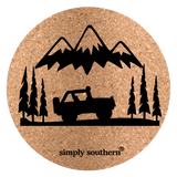 Cork Car Coaster - Guys - F20 - Simply Southern