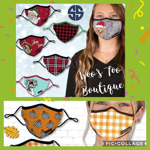 Face Masks - Adult & Youth - Fall/Holiday 20 - Simply Southern