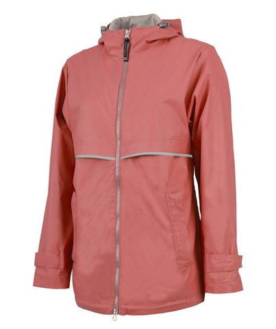 Charles River - New Englander Raincoat - Coral