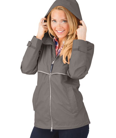 Charles River - New Englander Raincoat - Grey