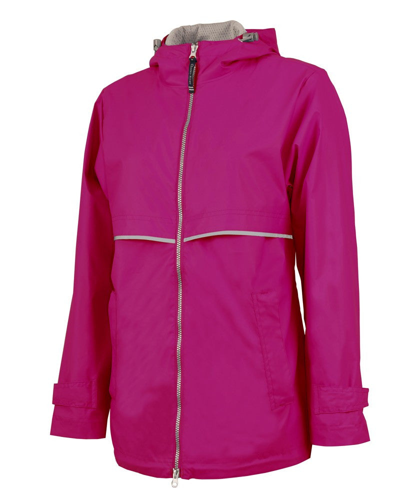 Charles River - New Englander Raincoat - Hot Pink
