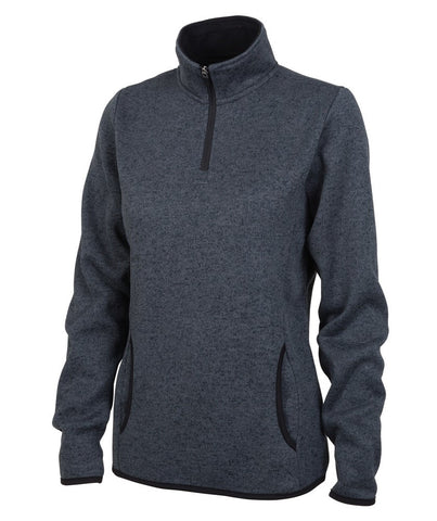 Charles River - Women's Heathered Fleece Pullover - Charcoal Heather