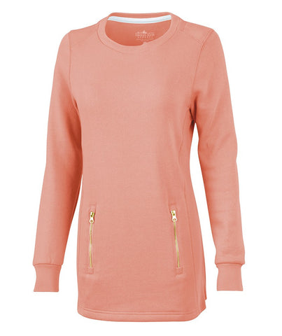 Charles River - Women's North Hampton Sweatshirt - Coral