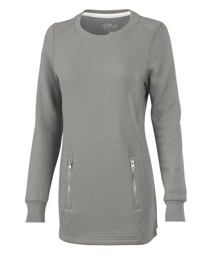 Charles River - Women's North Hampton Sweatshirt - Heather Grey