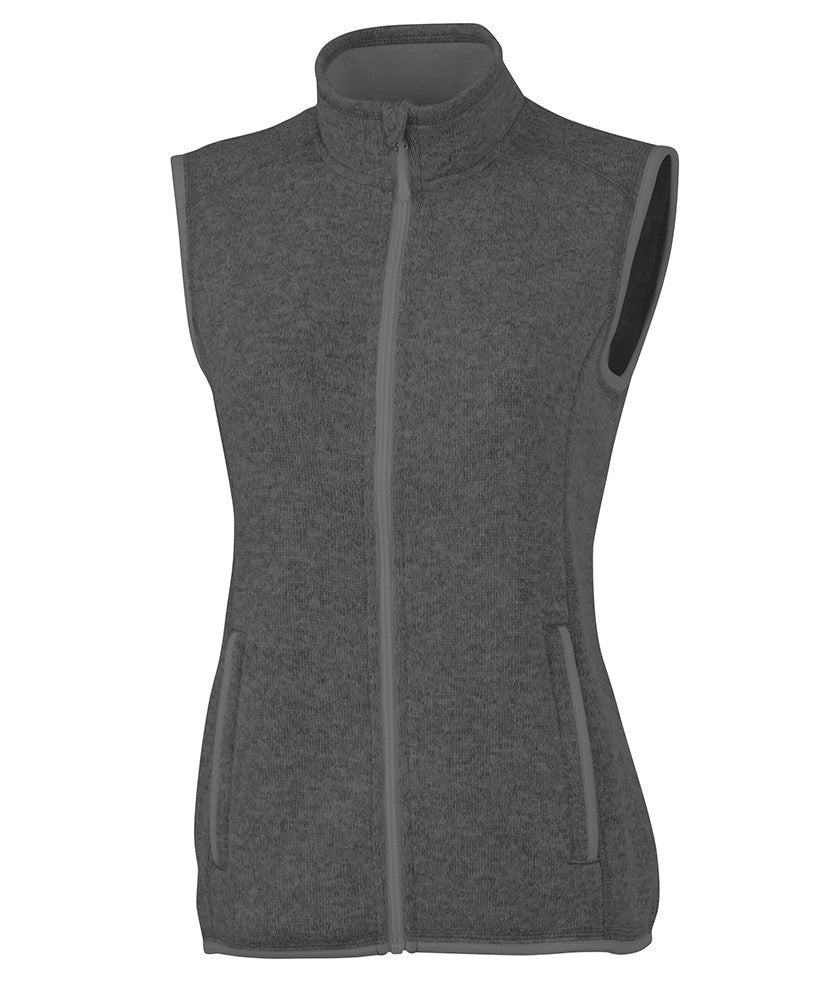 Charles River - Women's Pacific Heathered Vest - Charcoal Heather