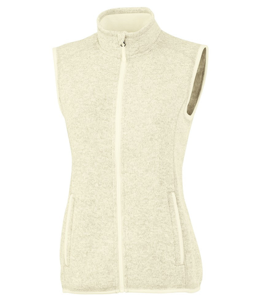 Charles River - Women's Pacific Heathered Vest - Ivory Heather