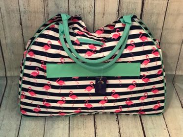 Pink Flamingo Beach Bag