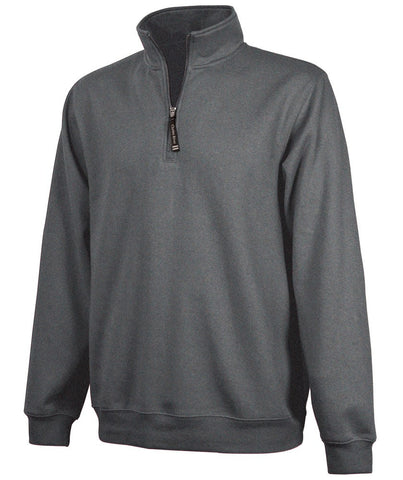 Charles River - Crosswind Quarter Zip Sweatshirt - Dark Charcoal Heather