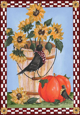 Autumn Crows - Garden Flag