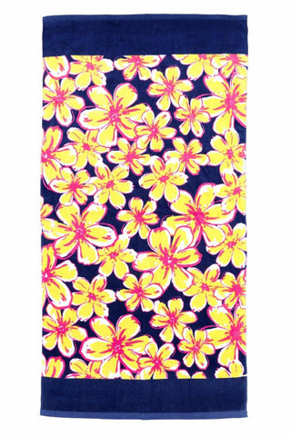 Beach Floral Beach Towel