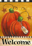 Pumpkin Autumn Welcome - Garden Flag